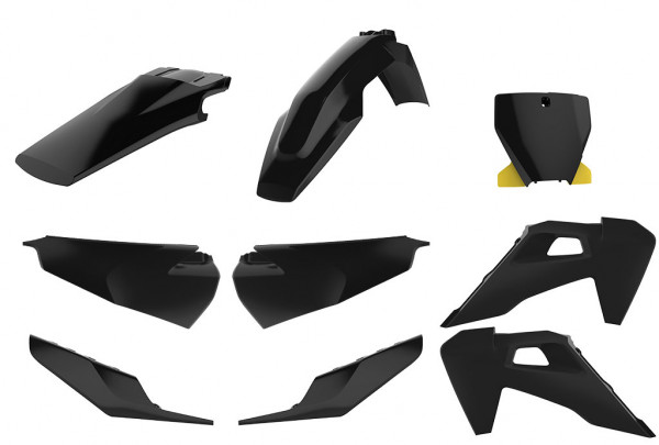 Polisport Komplett-Kit schwarz