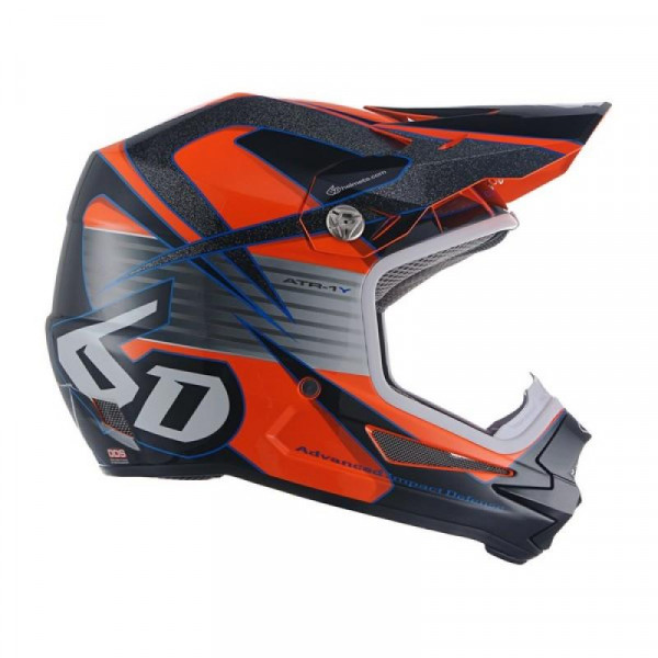 6D ATR-1 Kid Helmet Avenger Neon Orange