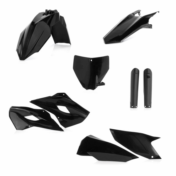 Acerbis Full Plastik Kit TC 125 14-15 + TC 250 14-16 + FC 14/15 Schwarz