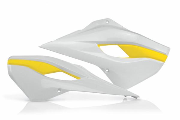 Acerbis Kühlerverkleidung TC 125 14-15 + TC 250 14-16 + FC 14-15 + TE/FE 14-16 Weiß Gelb