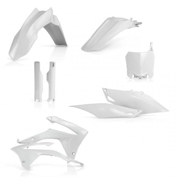 Acerbis Full Plastik Kit CRF 250 14-17 + CRF 450 13-16 Weiß
