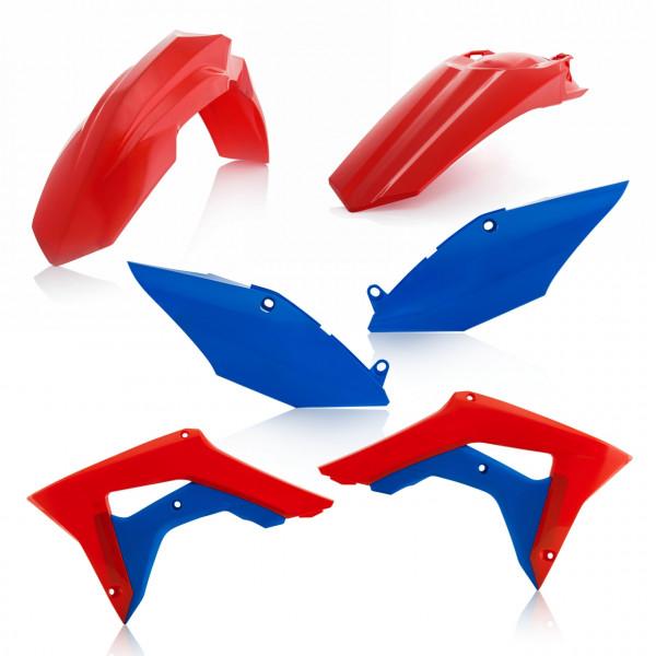 Acerbis Plastik Kit CRF 250 18 + CRF 450 17-18 Rot Blau