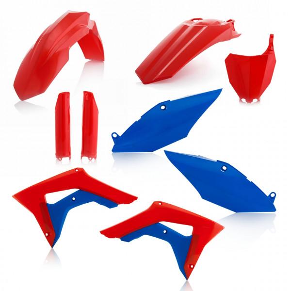 Acerbis Full Plastik Kit CRF 450 17-18 + CRF 250 18 Rot Blau