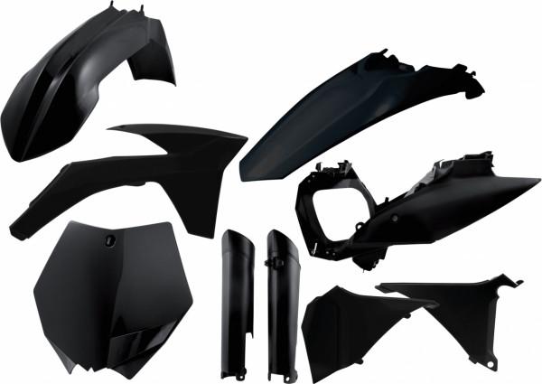 Acerbis Full Plastik Kit SX-F 11-12 + SX 12 Schwarz