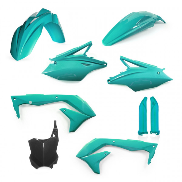 Acerbis Full Plastik Kit KX 450 F USA 18 Türkis