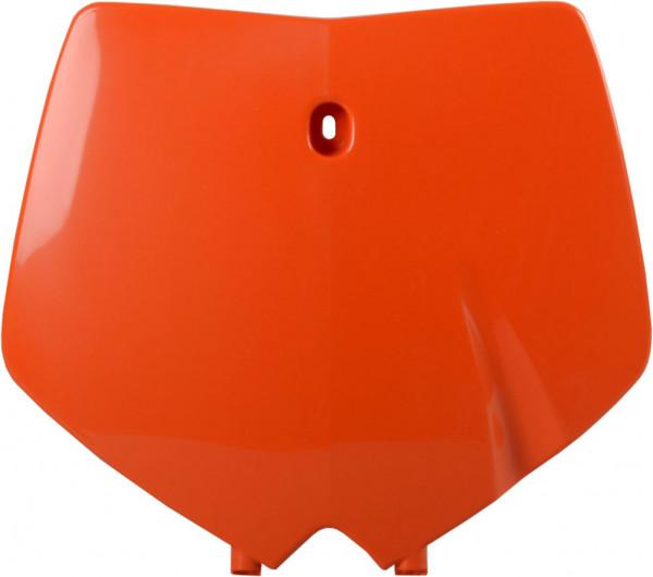 Polisport Startnummerntafel vorne orange